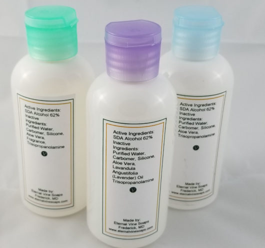 3oz Hand Sanitizer Ingredients