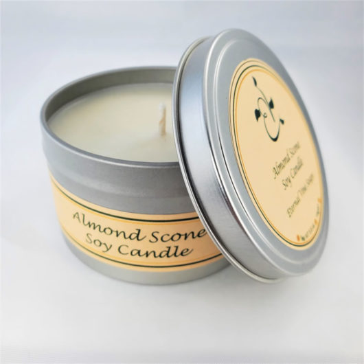 Almond Scone Soy Candle Open