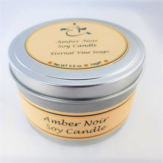 Amber Noir Soy Candle Closed