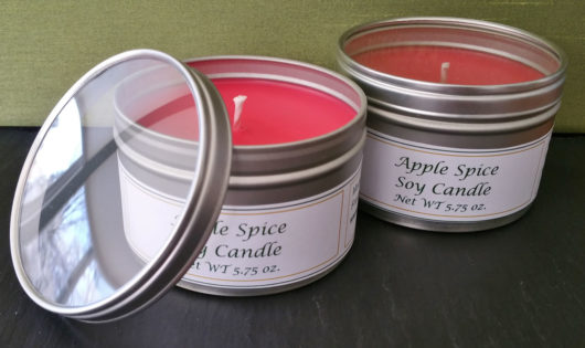 Apple Spice tin Candles