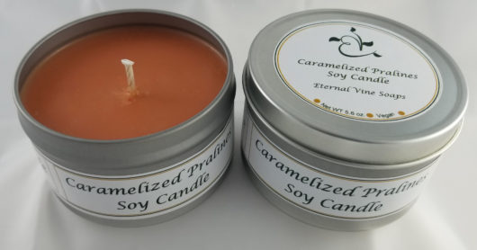Caramelized Pralines Soy Wax Candle Tin