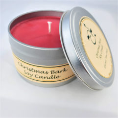 Christmas Bark Soy Candle Open