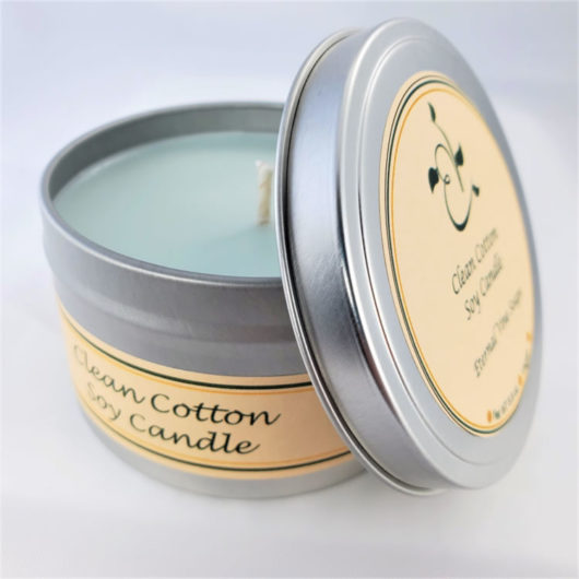 Clean Cotton Soy Candle Open