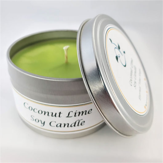 Coconut Lime Soy Candle Open
