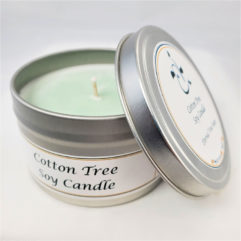 Cotton Tree Soy Candle Open