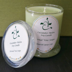 Cucumber Melon Jar Candle Open