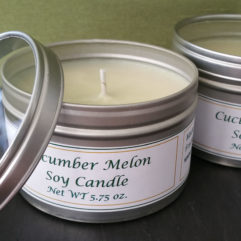 Cucumber Melon Candle Tins