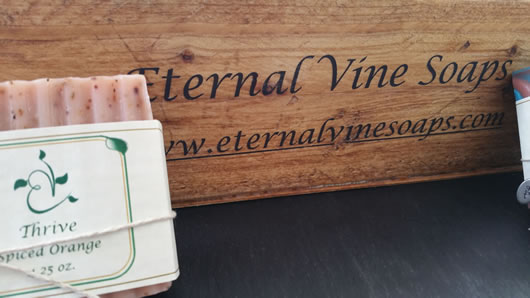 Eternal Vine Soaps - Display Box with soap and logo on box