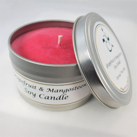 Grapefruit and Mangosteen Soy Candle Open