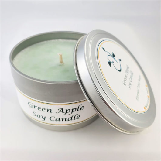 Green Apple Soy Candle Open