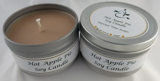 Hot Apple Pie Soy Wax Candle Tin