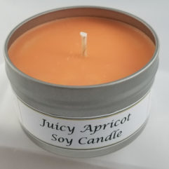 Juicy Apricot Soy Wax Candle Open