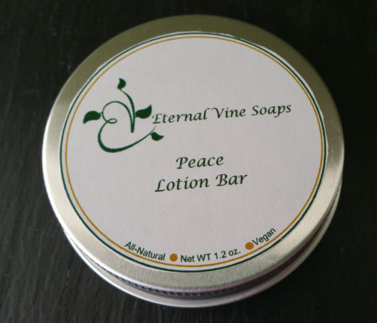 Lavender Lotion Bar in Tin Lid