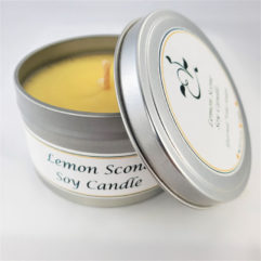 Lemon Scone Soy Candle Open