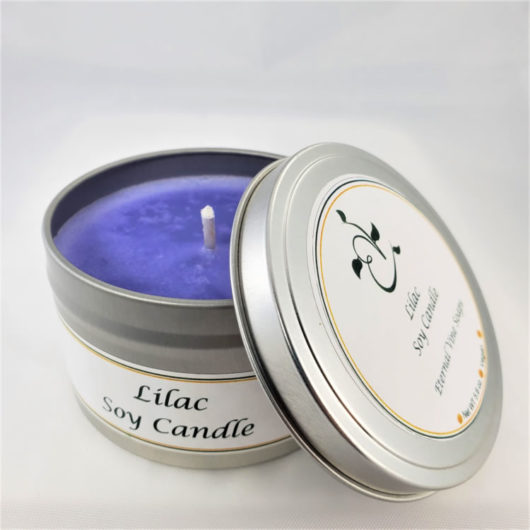 Lilac Soy Candle Open