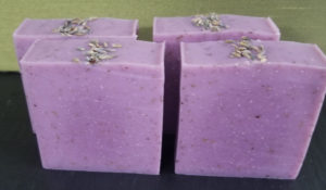 Peace Purple Lavender Handmade Soap Bars Front