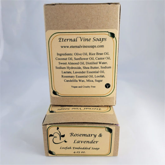 Rosemary Lavender Boxed Back