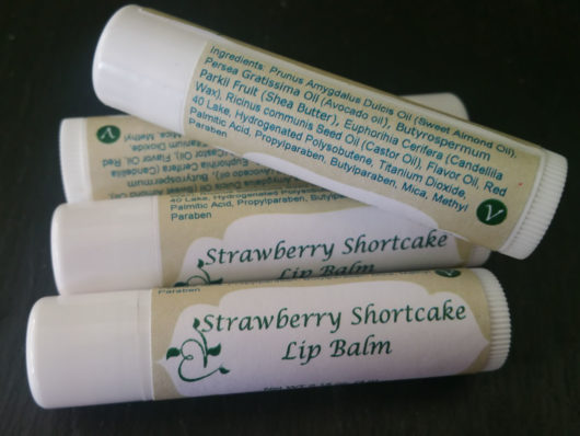 Strawberry Shortcake Lip Balms Vegan