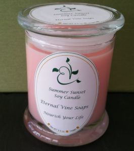 Summer Sunset Jar Candle Closed