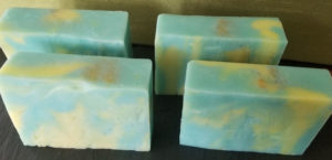Sun and Sand Handmade Soap Embedded with Loofah Tops
