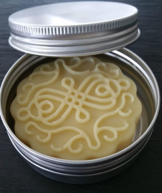 Vegan Lotion Bar Open Tin