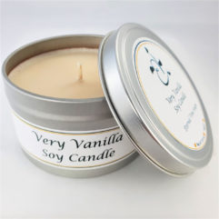 Very Vanilla Soy Candle Open