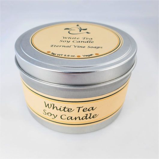 White Tea Soy Candle Closed